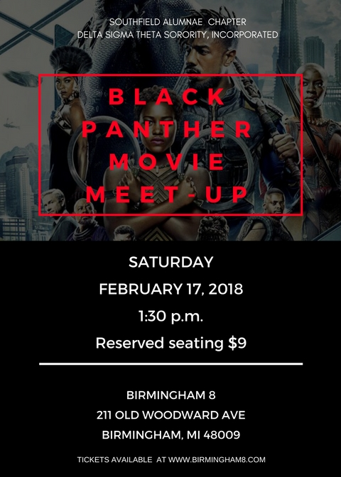 Black Panther Meet-Up - Flyer